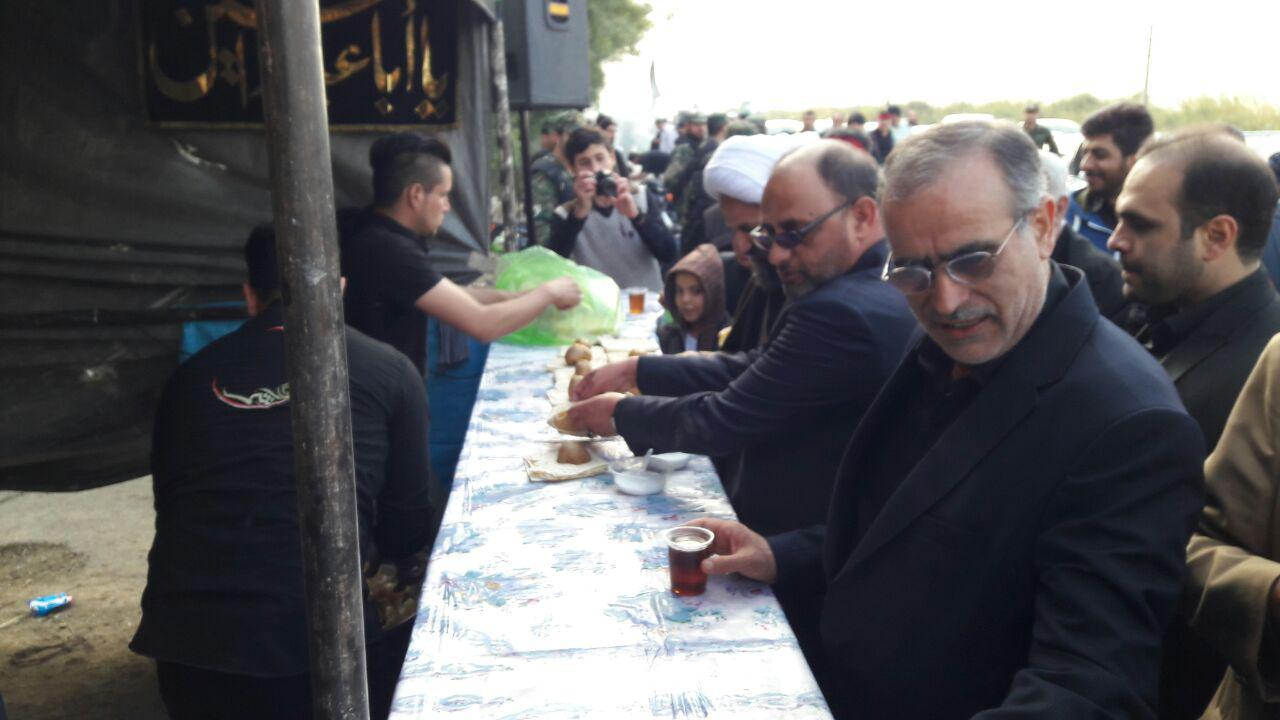 راهپیمایی جاماندگان اربعین حسینی شهرستان قرچک