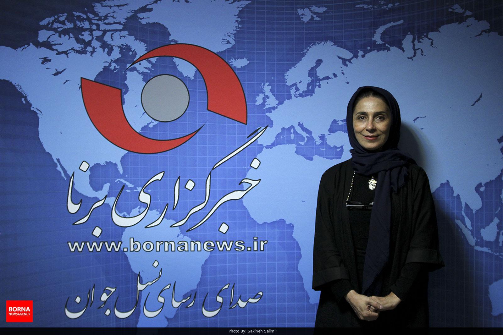 حضور+مریم+کاظمی+دبیر+جشنواره+تئاتر+کودک+و+نوجوان+در+خبرگزاری+برنا+..