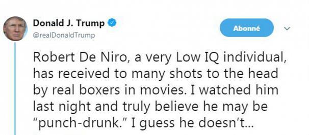توییت ترامپ رابرت دنیرو