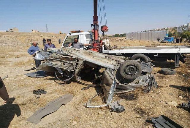 راننده 14 ساله پژو 405 بر اثر واژگونی در بیجار جان خود را از دست داد