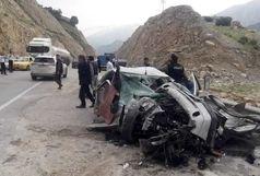 کشته شدن ۲ سرنشین پژو در برخوردی وحشتناک با کامیون