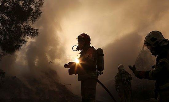 آتش سوزی در شرق تهران