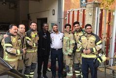 ستاره فوتبال جهان در جمع آتش نشانان تهران +عکس