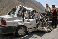 تصادف شدید نیسان و پراید/راننده پراید زنده زنده سوخت