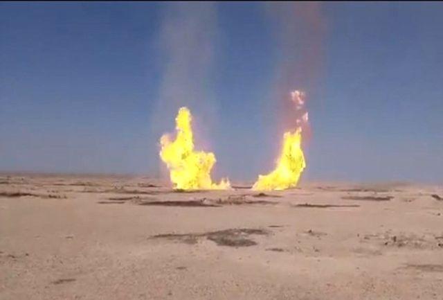 انفجار مهیب در خط لوله گاز