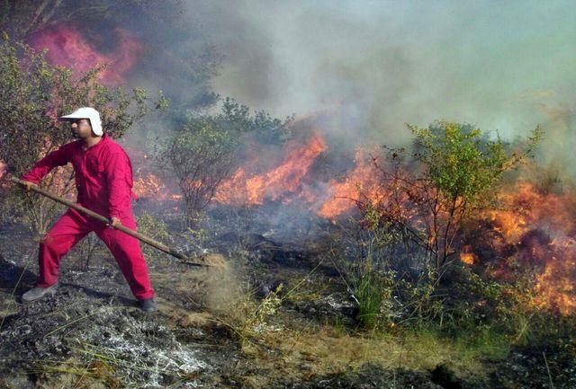 مهار آتش سوزی در میانکاله