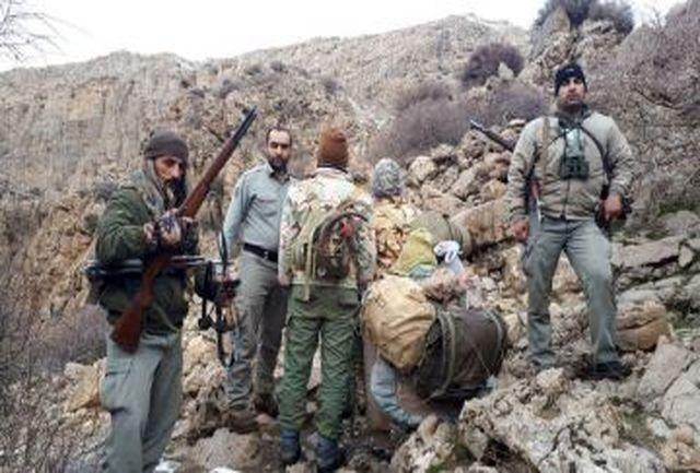 دستگیری هفت شکارچی غیر مجاز درسفید کوه خرم آباد