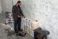 کارگاه غیر مجاز تولید بستنی یخی (فالوده ای ) در شهرستان ورامین