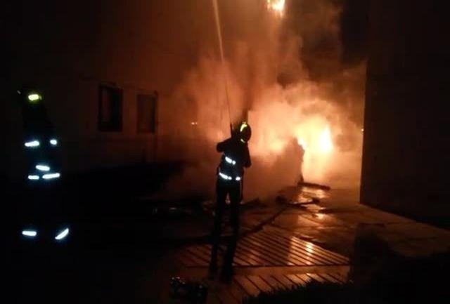 آتش سوزی خانه ای در آستارا