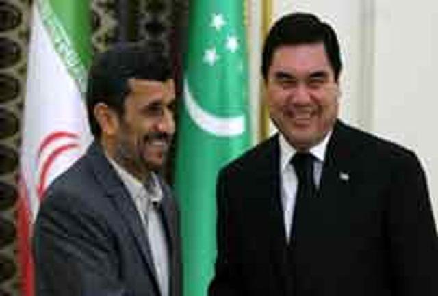 رییس جمهور ترکمنستان به احمدی نژاد پیام داد