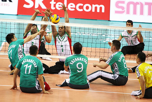 قزاقستان مغلوب والیبال نشسته ایران شد