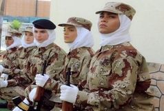 رژه نظامی زنان در عربستان برای اولین بار