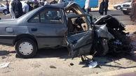 5 مصدوم در حادثه برخورد شدید پژو و پراید محور منیوحی-آبادان