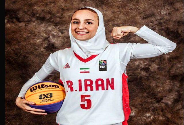 اختصاصی برنا/مژگان خدادادی عضو تیم ملی بسکتبال ایران: در جام جهانی دومین بازیکن امتیازآور ایران شدم