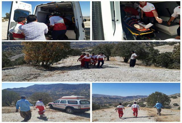 نجات جوان ٢۷ ساله در ارتفاعات سد میمه شهرستان دهلران
