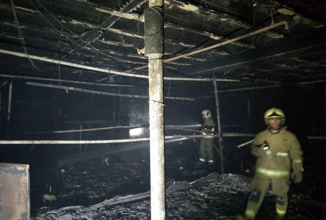حریق در خیابان آجودانیه یک کارگر را به کام مرگ کشاند