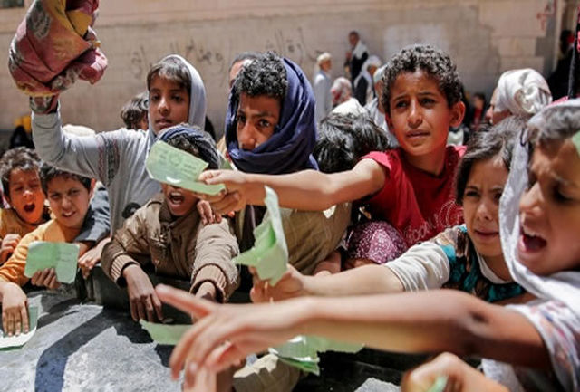 ۲ میلیون کودک یمنی از سوء تغذیه شدید رنج میبرند