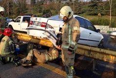 مرگ دختر 20 ساله بر اثر واژگونی خودرو در اتوبان فولادشهر