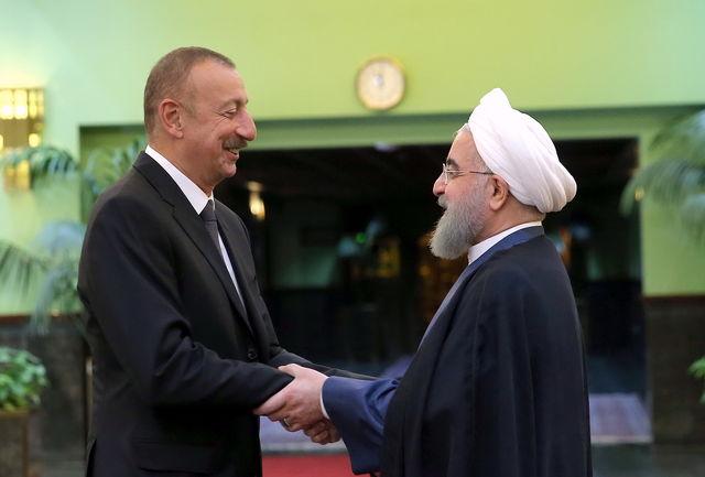 روابط و همکاریهای تهران- باکو دوستانه، برادرانه و روبه گسترش است/ تاکید روسای جمهور دو کشور بر تسریع در اجرای توافقات فی مابین