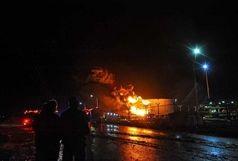 آتش سوزی در پالایشگاه آبادان+فیلم