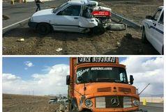 بازهم جاده ترازیتی شرق کشور حادثه آفرید / برخورد  کامیون با پراید در محور سربیشه_ بیرجند