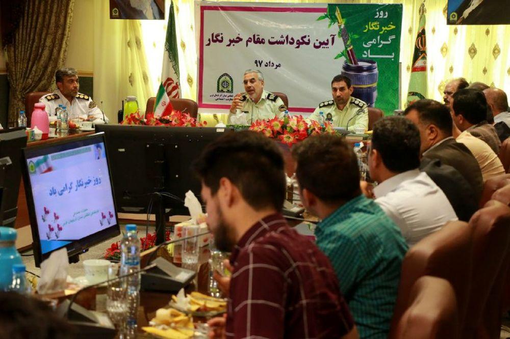 مراسم گرامیداشت روز خبرنگار توسط فرماندهی انتظامی آذربایجان غربی + تصاویر