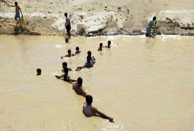 جسد کودک غرق شده پس از 2 روز در رودخانه محلی زهک پیدا شد