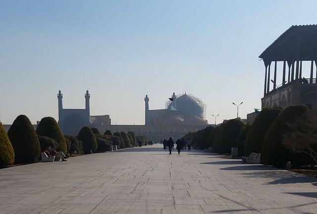 هوای اصفهان نارنجی است
