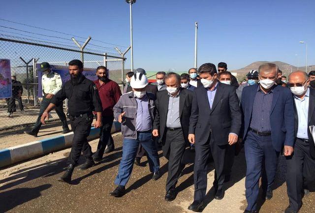 بازدید وزیر صمت از کارخانه طلای زرشوران تکاب