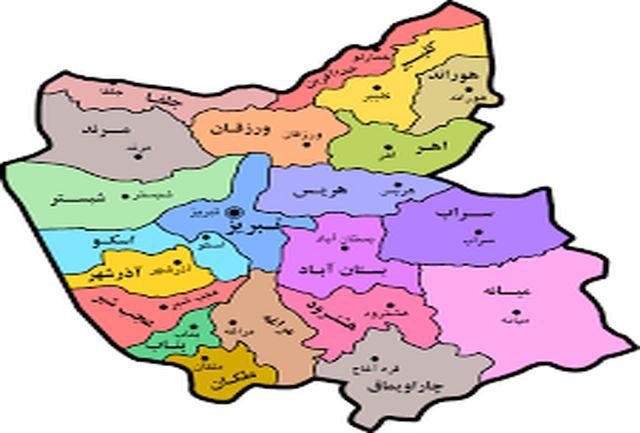 2 شهرستان زرد کرونایی استان آذربایجان شرقی تا 18 فروردین 1400