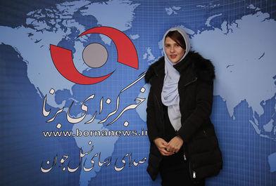حضور مهسا جاور در خبرگزاری برنا