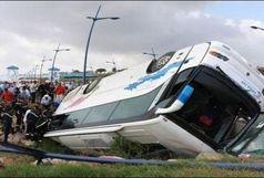 7 مصدوم در واژگونی اتوبوس