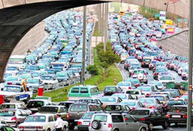 وضعیت ترافیک صبحگاهی تهران در روز چهارشنبه