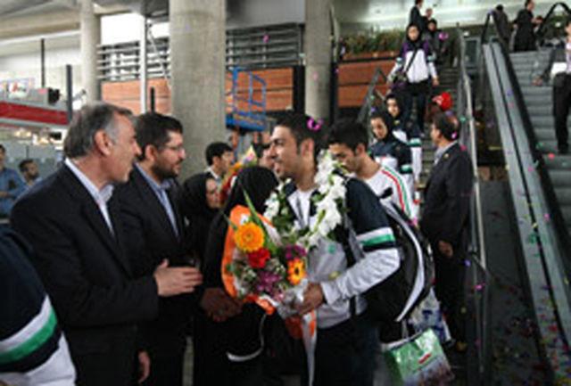 ملی پوشان تکواندو وارد تهران شدند