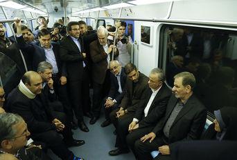 افتتاح خط دو قطار شهری مشهد با حضوراسحاق جهانگیری