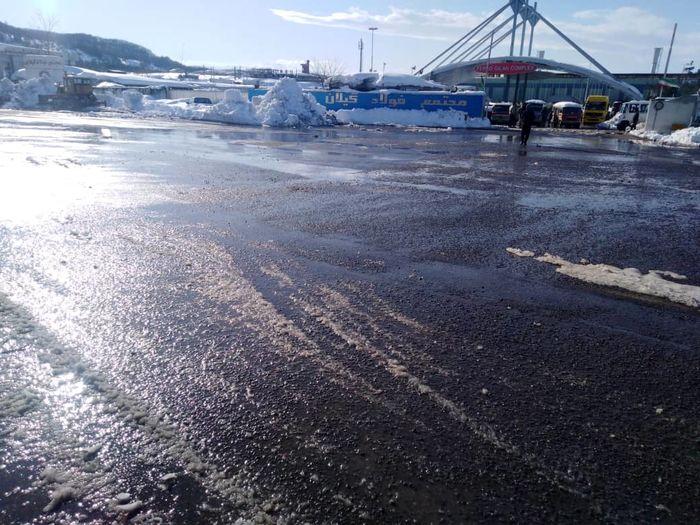 اقدام قابل تقدیر مجتمع فولاد گیلان در بحران برف