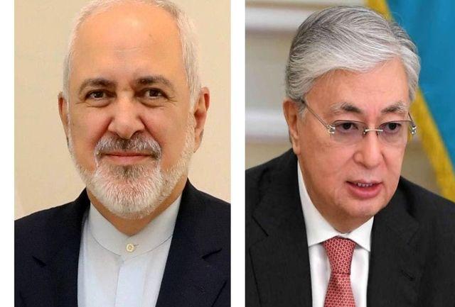 ظریف با رئیس جمهور قزاقستان دیدار کرد
