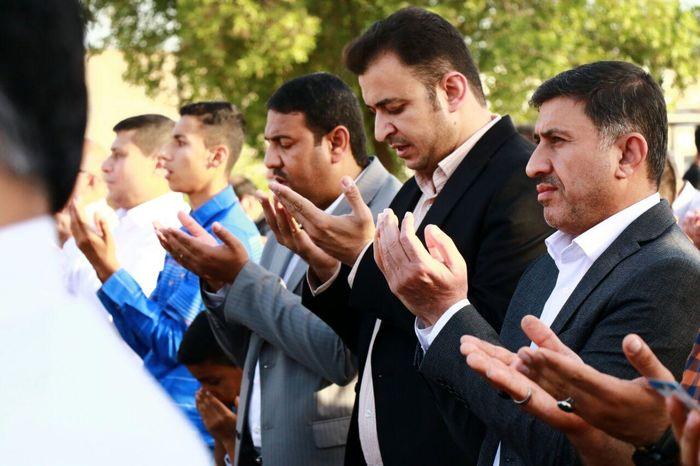نمایش نماد عزاداری قم در نماز ظهر عاشورا