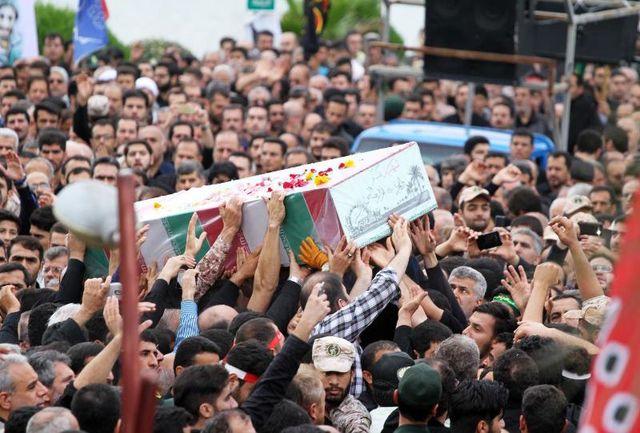 گلستان افتخار میزبانی از چهار شهید گمنام دفاع مقدس