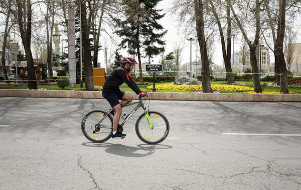 جولان دوچرخه سواران در پایتخت