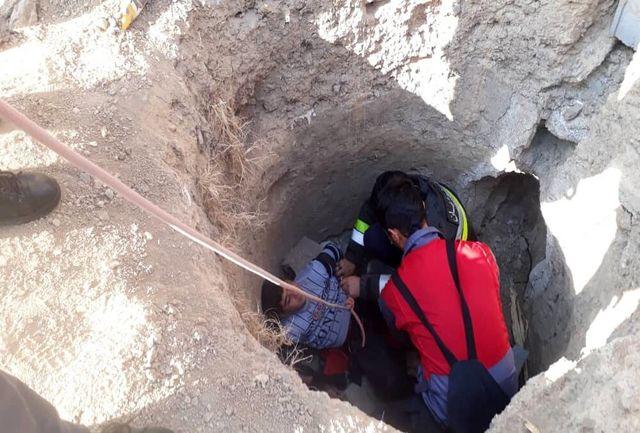 سقوط یک نوجوان ۱۳ ساله در چاه