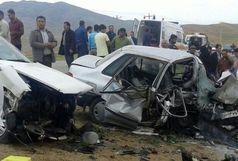۵ کشته و مصدوم در حادثه تصادف شدید پراید و سمند
