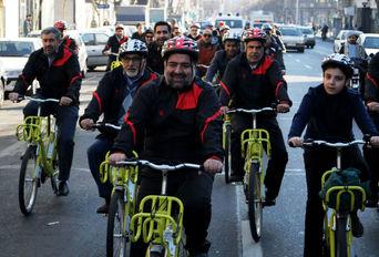گردشگری با دوچرخه- روز هوای پاک تهران