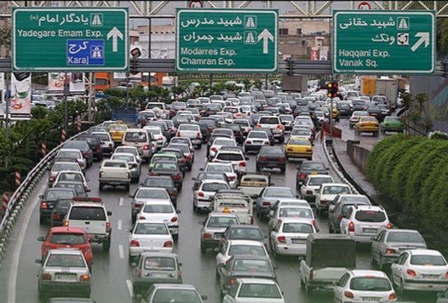 ترافیک شدید در معابر پایتخت