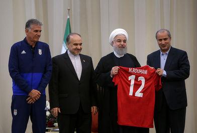 روحانی: در جام جهانی اتحاد بازیکنان مهم است/ ببینید