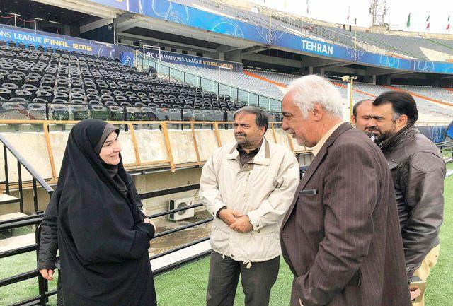 بازدید محمدیان از ورزشگاه آزادی