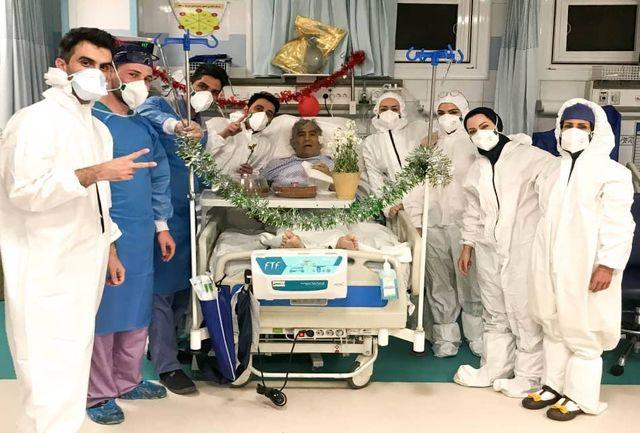 جشن تولد جالب یک بیمار مبتلا به کرونا در بیمارستان خورشید