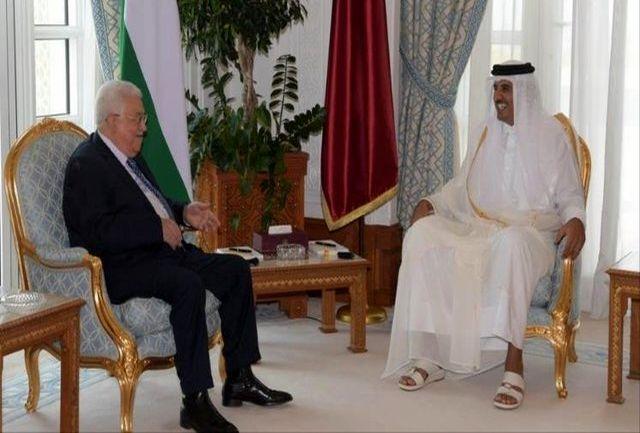 فلسطین محور دیدار محمود عباس و امیر قطر