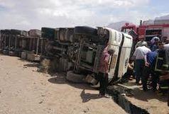 واژگونی تانکر حامل بنزین در جاده دیهوک- فردوس