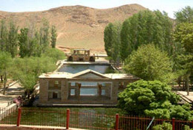 بخش اصلی باروی تاریخی «باغ چشمه علی» دامغان مرمت شد